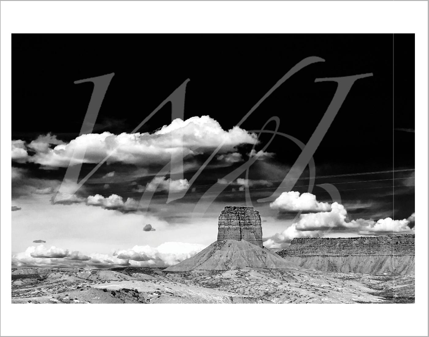Bluff and Clouds - Utah: Print