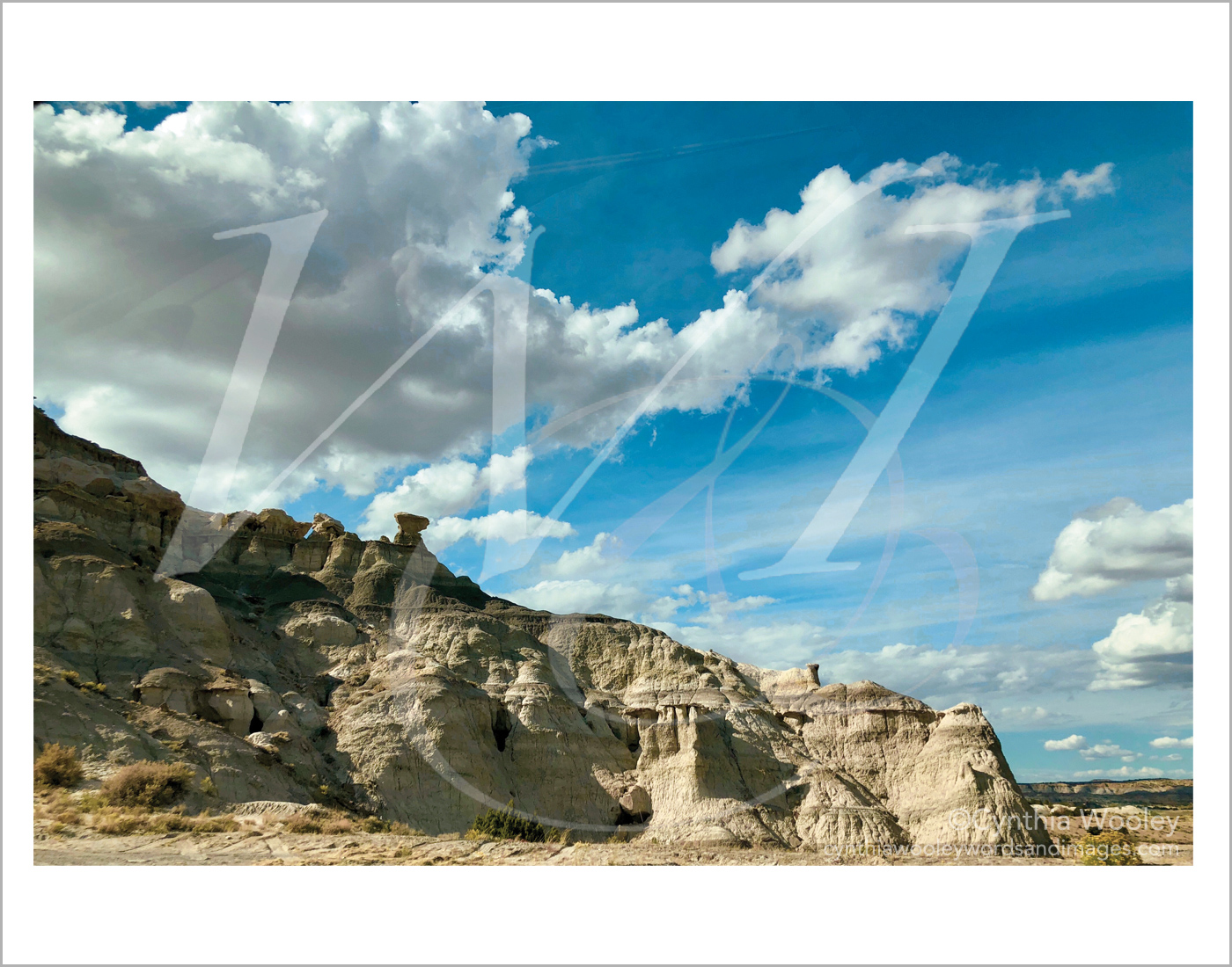 Rocks and Clouds - New Mexico: Print